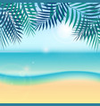 nature summer vacation tropical background with vector image vector image