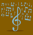 notes music melody colorfull musician symbols vector image vector image