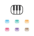 of media symbol on pianoforte vector image vector image