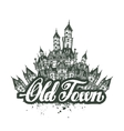 Old Town sketch artwork vector image vector image