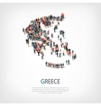 people map country Greece vector image vector image