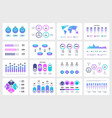 presentation infographic elements graphs charts vector image