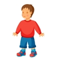 pretty little boy in trousers and vector image vector image