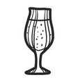 pub glass beer icon hand drawn style vector image vector image
