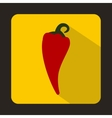 Red hot chili pepper icon flat style vector image vector image