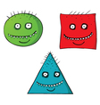 Scary Shape faces vector image vector image