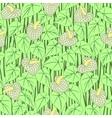 seamless anturium flower pattern background vector image vector image
