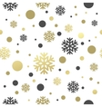 Seamless white christmas wallpaper with black and vector image vector image