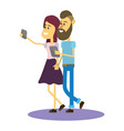 selfie with smartphone vector image