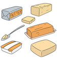 set of butter vector image