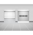 Shutter Door Factory vector image