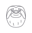 sloth head line icon sign on vector image vector image