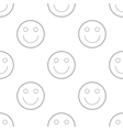 Smiling seamless pattern vector image vector image