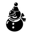 snowman icon simple black style vector image vector image