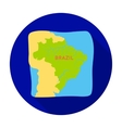 Territory of Brazil icon in flat style isolated on vector image vector image