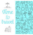 time to travel background vector image
