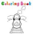train coloring vector image vector image