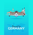 travel to germany airplane with attractions vector image vector image