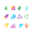 trendy business logo symbols rainbow color vector image