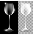 Two wine glass vector image vector image