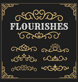 vintage flourishes vine frame and luxurious vector image vector image