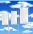 white flags and blue sky beach event advertising vector image vector image
