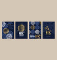 xmas holiday elegant luxury snowflake poster set vector image vector image