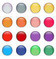 glossy button set 1 vector image