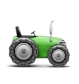 Green Agricultural Tractor vector image