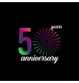 50 year anniversary firework template design vector image vector image