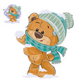 a brown teddy bear vector image vector image