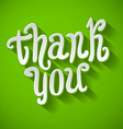 A Thank you message made of growing branches vector image
