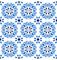 abstract flower tile pattern vector image vector image