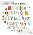 Alphabet Hand Drawn Font Letters vector image vector image