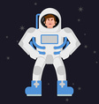 Angry Astronaut Cosmonaut disgruntled Aggressive vector image vector image