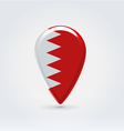 Bahrain icon point for map vector image vector image