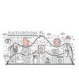 bathroom concept flat line art vector image vector image