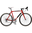bicycle red1 vector image vector image