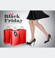 black friday sale background with elegant vector image vector image