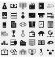 business diagram icons set simple style vector image vector image