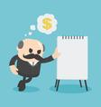 Businessman showing financial plan vector image vector image