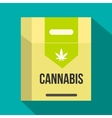 Cannabis cigarette box icon flat style vector image vector image