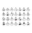cartoon face emoji eye expressive emotion eyes vector image