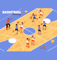 children basketball team background vector image