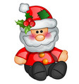 christmas toy in form santa claus sample vector image vector image