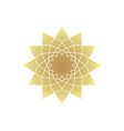 circular geometric ornament vector image vector image