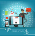 concept computer crime and hacker vector image