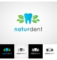 Creative dental logo template dentist clinic vector image