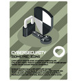 cybersecurity color isometric poster vector image vector image