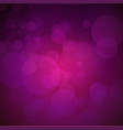dark violet background with glow and bokeh vector image vector image